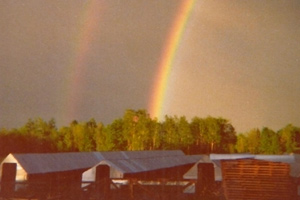 Rainbow captured over Patrick's ranch in the 1970's