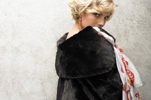 BLACKGLAMA elegant black mink coat