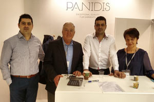 Panidis Bros Furs pictured with Mike Patrick at Fur Excellence in Athens, Greece